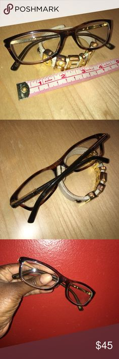 Auth D&G Prescription Eyeglasses Brown GUC Dolce & Gabbana Prescription Eyeglasses Brown. Normal pre-owned wear with several small scratches on the arms. You will need to have the lenses changed to your prescription. No Trades Dolce & Gabbana Accessories Glasses
