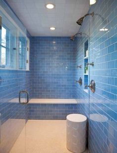 OUR FAVORITE COLORFUL BATHROOMS Colorful bathroom Blue tiles and