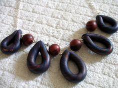 ETNIC DROPS : collana fatta a mano in argilla polimerica (FIMO) - hand made polymer clay necklace