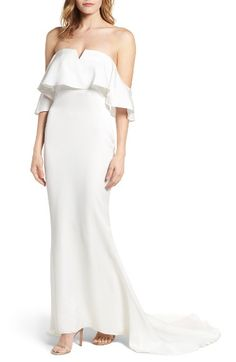 The Santa Barbara Off the Shoulder Gown LOVERS + FRIENDS $360.00