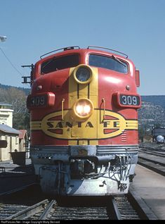 RailPictures.Net Photo: ATSF 309L Atchison, Topeka & Santa Fe (ATSF) EMD F7(A) at Raton, New Mexico by Marty Bernard