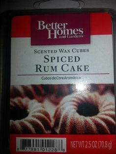 Better Homes and Gardens Scented Wax Cubes Spiced Rum Cake Better ...