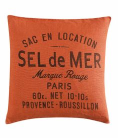 Linen cushion cover - from H Warm Industrial, Industrial Style, A Moveable Feast, Hm Home, Chalk Paint Colors, Cool Diy, Decor Interior Design, Home Accessories, Decorative Pillows