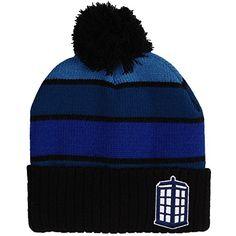 Doctor Who Tardis Striped Beanie with Pom   niftywarehouse.com   NiftyWarehouse  DoctorWho   1c1a460e2b28
