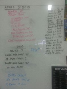 Caged CrossFit WOD 4-10-2013