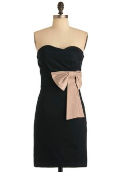 Evening Reservations Dress ... black cocktail dress, black bridesmaid dress, neutral bow $52.99