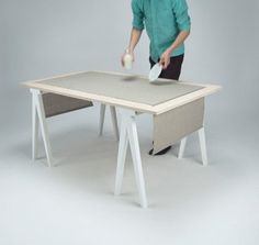 This Dining Table Packs Up for Easy Storage — Design News