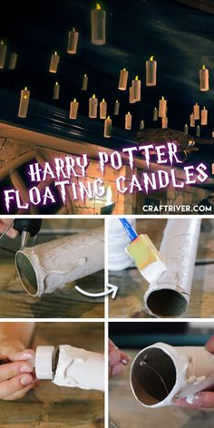 Awesome DIY Halloween Crafts for Kids to Make – Spider Cups DIY Harry Potter Floating Candles Harry Potter Halloween, Harry Potter Motto Party, Cumpleaños Harry Potter, Harry Potter Christmas Tree, Harry Potter Classroom, Harry Potter Birthday, Harry Potter Navidad, Harry Potter Weihnachten, Halloween Crafts For Kids To Make