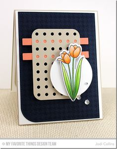 Spring Tulips stamp set and Die-namics, Houndstooth Background, Blueprints 22 Die-namics - Jodi Collins #mftstamps