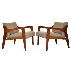 Mid Century Lounge Chairs | From a unique collection of antique and modern lounge chairs at http://www.1stdibs.com/furniture/seating/lounge-chairs/