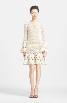 Michael Kors Hand Crochet Cashmere & Cotton Dress available at #Nordstrom