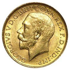 1911-1919-C Canada Gold Sovereign George V AU/BU