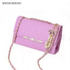 MIWIND(MIWIND)2017 new women bags autumn and winter pu leather Mini lock bag lady chain small bread fashion single shoulder bag