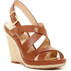 Vince Camuto Maben Wedge Sandal ($70) ❤ liked on Polyvore featuring shoes, sandals, summer cogna, platform espadrilles, wedge espadrilles, platform sandals, wedge sandals and espadrille sandals