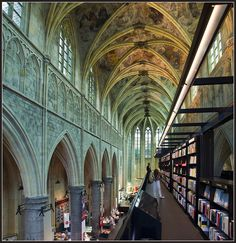 Completed in 2007 by Merkx + Girod Architecten, the Selexyz Dominicanen Bookstore in Maastricht in the Netherlands is an incredible church conversion that was originally consecrated in 1294.