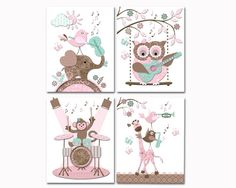 Music nursery art baby girl room decor toddler artwork kids Toddler Artwork, Kids Artwork, Kids Room Art, Girls Room Wall Decor, Playroom Decor, Music Nursery, Nursery Art, Kids Rugs, Handmade Gifts