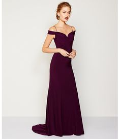 Adrianna Papell Cold Shoulder Mermaid Gown - (dillards)