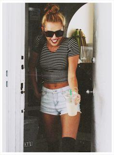 American Apparel striped top. Miley? Summer Look