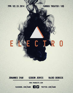 Electro / trance concert flyer template