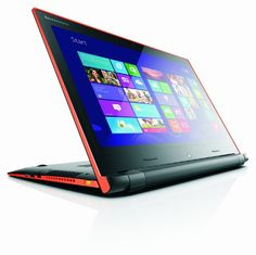 Lenovo Flex 15 15.6-inch Touchscreen Laptop - Black/Orange (Intel Pentium 3556U 1.7GHz Processor