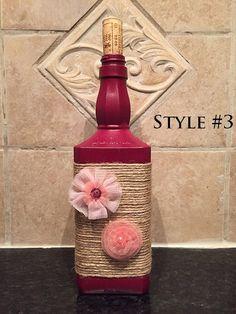 Jack Daniels Bottle Decor Gift/ Home by TastefullyDistressed