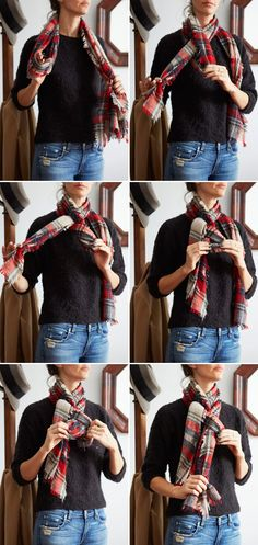 A CUP OF JO: Three ways to tie your scarf differently