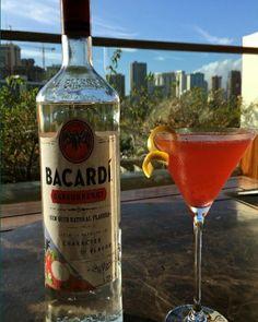 The #Waiolu Sparkling Strawberry Cosmopolitan: Bacardi Dragonberry Rum, Grey Goose L'Orange, Cranberry Juice, Fresh Lime Juice, Strawberry, Sparkling Wine #TrumpWaikiki #Waikiki #Hawaii #LiquidArtistry #Drink #Strawberry #Cosmo #Bacardi #GreyGoose #Cheers