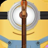 Yellow Zipper Lock Screen