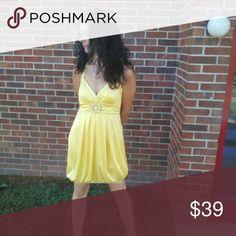 Short Party Dress Short yellow party dress City Studio Dresses Mini