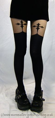 Crucifix Tights by Moonmaiden Gothic Clothing UK