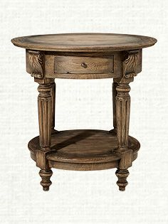 Windham Solid Birch/ Iron Round End Table | Overstock.com Shopping ...