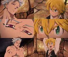 Ban and Meliodas' reunion Seven Deadly Sins Anime, 7 Deadly Sins, Anime Angel, Nisekoi, Blue Exorcist, Naruto, Kakashi, Animé Fan Art, Inu Yasha