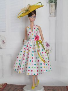 Halter Dress For Silkstone Doll, Reproduction Barbie By Kunchris