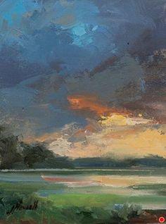Light Breaks Trhrough Study 6x8 by jacki newell Oil ~ 8 x 6