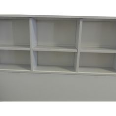 Benzara Wooden Twin Size Bookcase Headboard with 6 Open Shelves, White - BM141868 | Benzara.com Open Shelving, Shelves, Single Size Bed, Bookcase Headboard, Contemporary Style, Bathroom Medicine Cabinet, Decorative Items, Bedding Sets, Home Furniture