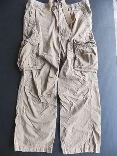Drawstring Cargo Pants Polo Jeans Ralph Lauren Mens Khaki Cotton 36x30 #PoloRalphLauren #Cargo