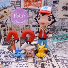 Topo com vela Personalizado Pokémon - Paty's Biscuit