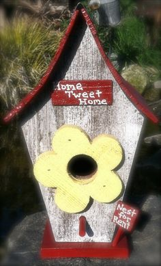 Handmade birdhouse made with repurposed wood by SowsEarRanch, $45.00