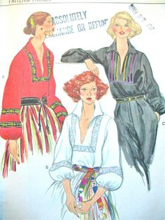 Uncut 70s Vogue 9877 Vintage Blouse Pattern by Fancywork on Etsy