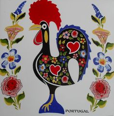 Rooster of Barcelos Rooster Painting, Rooster Art, Portugal, Portuguese Tattoo, Crafts To Make, Arts And Crafts, Portuguese Culture, Mexican Embroidery, Button Art