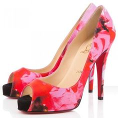 Christian Louboutin Very Prive 120mm Pumps Pink Red Bottom Shoes $195.00