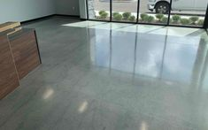 Polished Concrete for Commercial Office. Most Beautiful Pictures, Cool Pictures, Picture Polish, Polished Concrete, Industrial Office, Reception Areas, Commercial Interiors, In The Heights, Tile Floor
