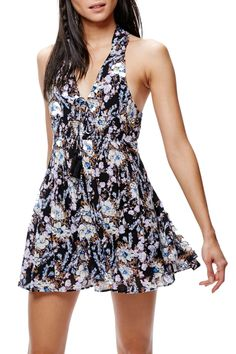 Floral Print Mini Dress by Free People