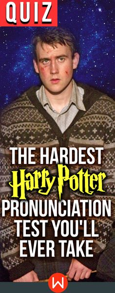 Harry Potter Quiz: Can you ace this hard Harry Potter pronunciation test? ONLY an authentic Potterhead knows how to pronounce all of these wizarding world words. Do you? buzzfeed quizzes, playbuzz quiz, muggles, Neville Longbottom, JK Rowling, Harry Potter knowledge test.