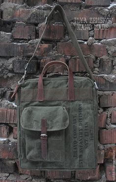 Military style bag.