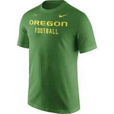Nike Men's Oregon Ducks Apple Green Football Sideline Facility T-Shirt, Size: Medium, Team