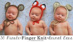 The Kurtz Corner: Finger Knitting - Animal Ears in 30 Minutes!