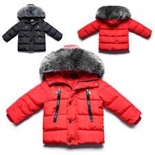 17810aa8b Baby Boys Girls Snowsuit Winter Warm Fur Collar Hooded Down Jacket Outerwear