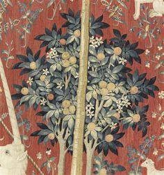 """Tenture de """"La Dame à la Licorne"""": A mon seul désir. Paris, musée de Cluny - musée national du Moyen-Age."""