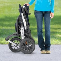 Chicco Activ3 Folded  Review: http://bestqualitystrollers.com/chicco-activ3-jogging-stroller-review/